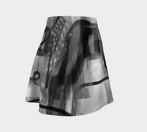 Blue Moon Blues Flare Skirt by Deloresart