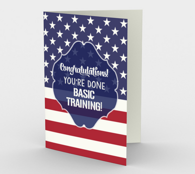1379 Done your Basic Training Card by Deloresart