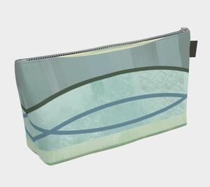 Coaxial Makeup Bag in Teals