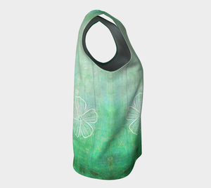Bra Off Loose Tank by Deloresart in Greens - deloresartcanada