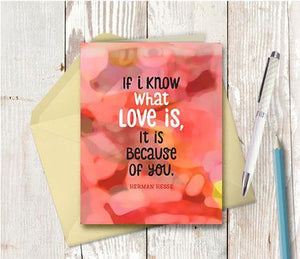 0702 If I Know What Love Is Note Card - deloresartcanada