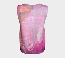 Bra Off Loose Tank by Deloresart in Pinks - deloresartcanada