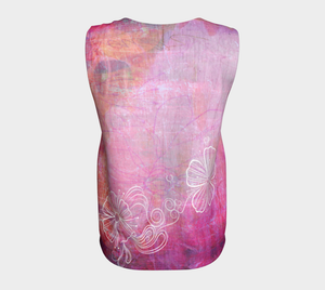 Bra Off Loose Tank by Deloresart in Pinks