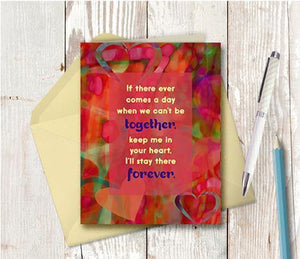 0710 Keep Me In Your Heart Forever Note Card