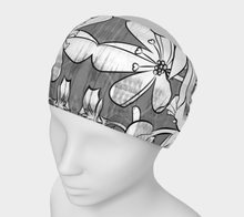 Flower Meadow greys Headband by Deloresart