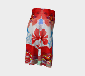 I Am a Queen Flare Skirt by Deloresart