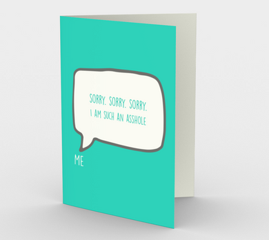 1209. Sorry Sorry Sorry  Card by DeloresArt