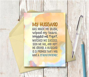 0721 My Husband Note Card