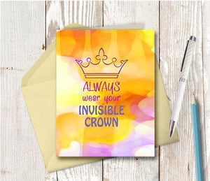 0723 Invisible Crown Note Card
