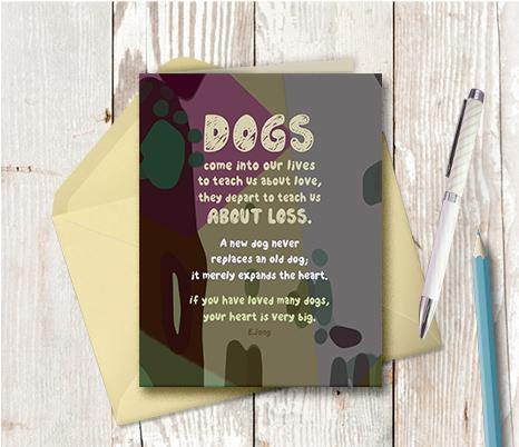 0729 Dogs In Our Lives To Teach Us Note Card