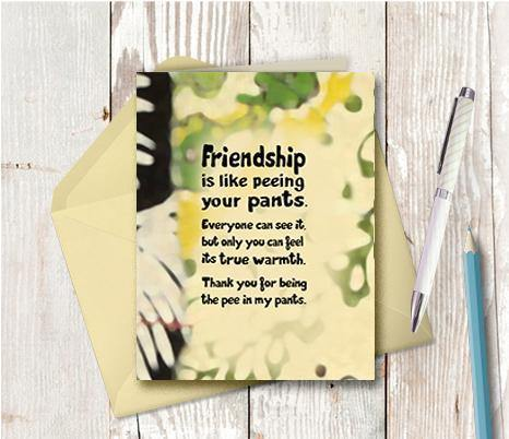 0731  Friendship Pee Note Card
