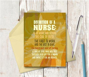 0736 Definition Of A Nurse Note Card