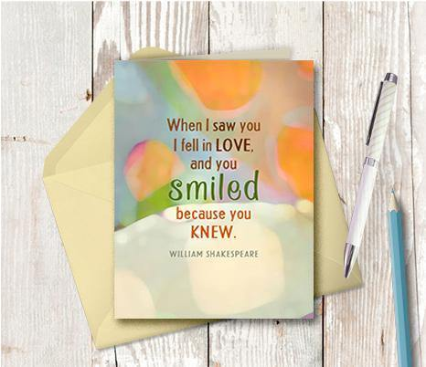 0749 When I Saw You I Knew Note Card