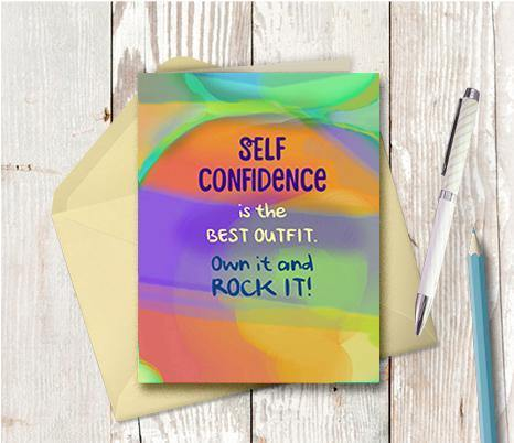 0758 Self Confidence Note Card
