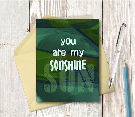 0760 You Are My Son Shine Note Card