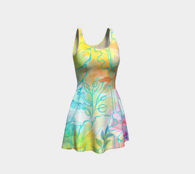 Posie Cluster Flare Dress by Deloresart