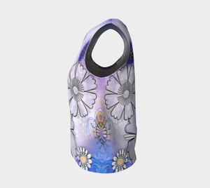 Flower Power Loose Tank by Deloresart Purples
