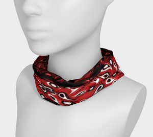 Bittermelon Paisley Headband in Red - deloresartcanada