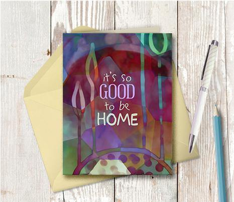 0782 So Good To Be Home Note Card