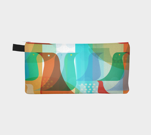 Birds of a Feather Pencil Case by Deloresart