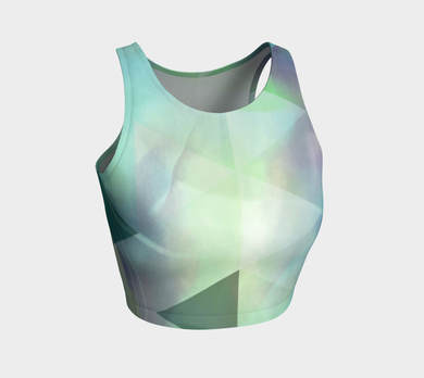 Be Still Textural Crop Top by Deloresart