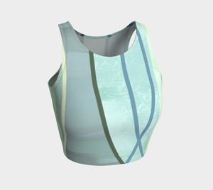 Coaxial Teal Crop Top by Deloresart