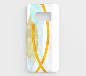 Del 489A Side By Side Green And Yellow Device Case - deloresartcanada