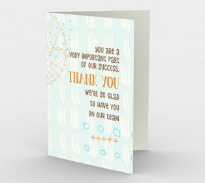 1159. Glad To Have You On Our Team  Card by DeloresArt