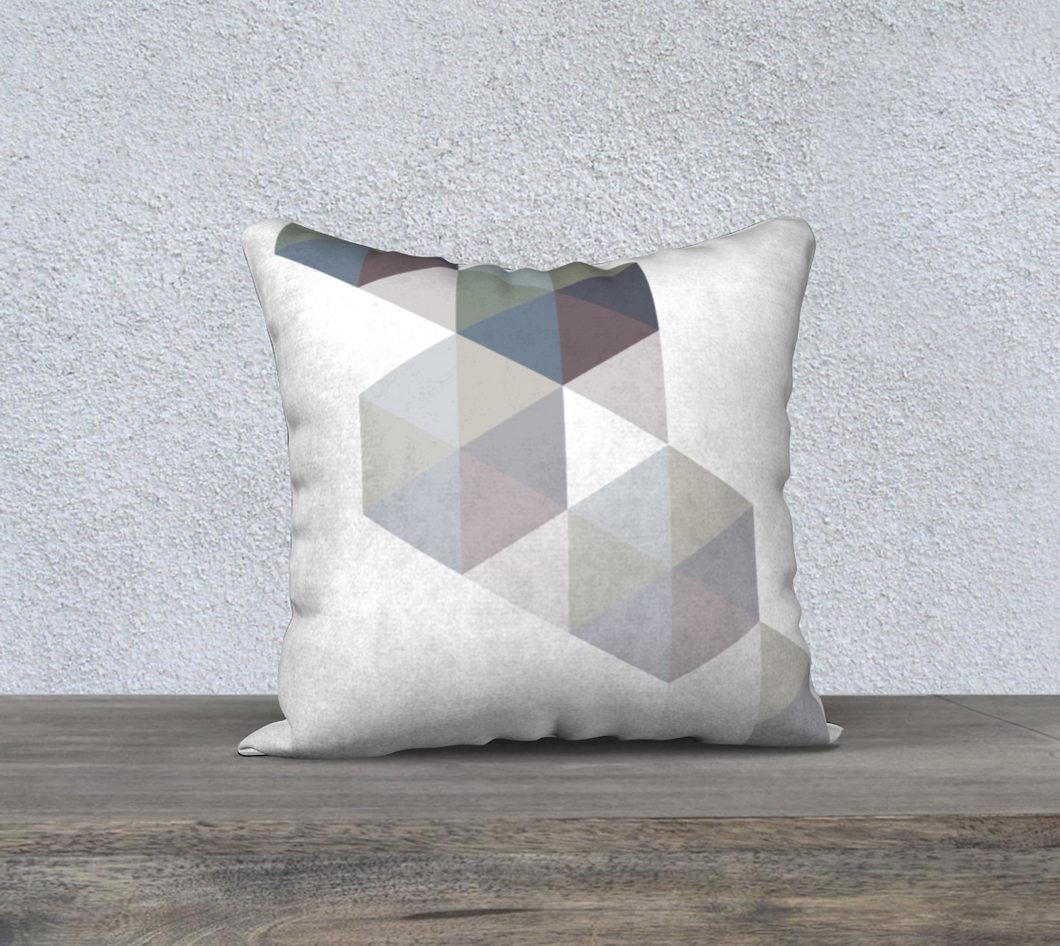 Coaxial Throw Pillow Neutrals by Deloresart