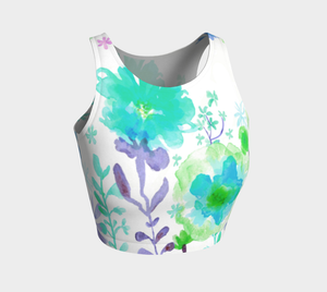 Grandma's Garden Crop Top by Deloresart