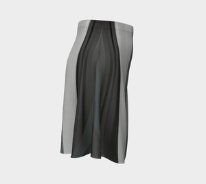 Bleached Beachwoord Grayscale Skirt by Deloresart
