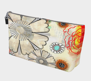 Flower Power Makeup Bag - deloresartcanada