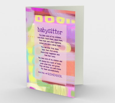 0498 Babysitter  Card by DeloresArt