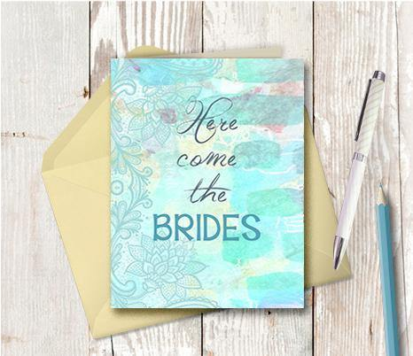 0800 Here Come The Brides Note Card - deloresartcanada