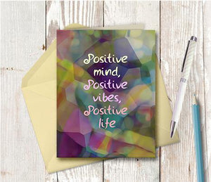 0805 Positive Mind Note Card