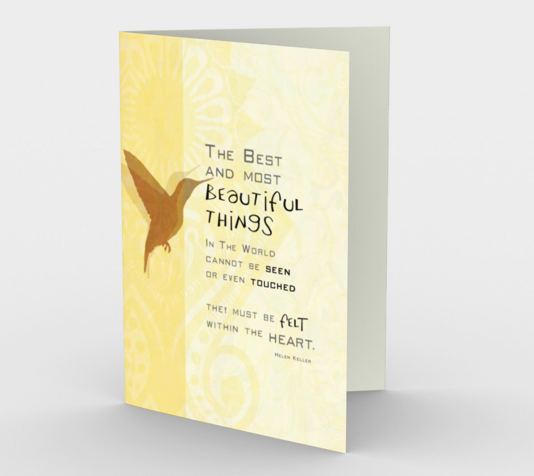 0072 The Best and Most Beautiful Things Card by DeloresArt