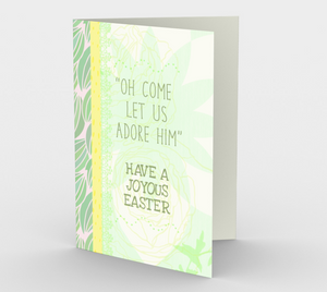 1175. Oh Come Let Us Adore Him  Card by DeloresArt