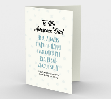 1256. Dad You Always Make Me Happy  Card by DeloresArt