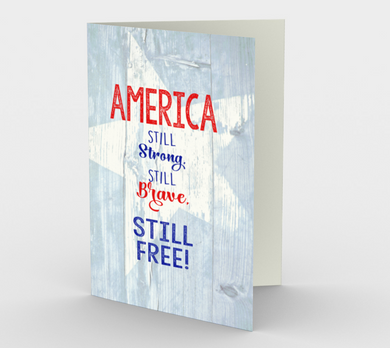 1365 America Stands Strong Card by Deloresart