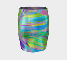 Tartan Cliffs Green and Purple Fitted Skirt by Deloresart