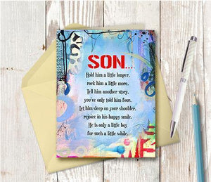 0852 Son Hug Note Card
