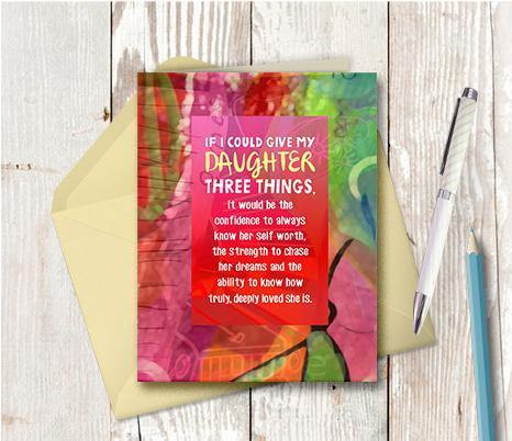 0868 Give My Daughter Note Card