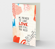 0631.All You Need is Love  Card by DeloresArt