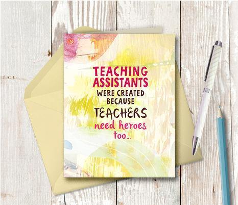 0870 Teachers Need Heroes Note Card