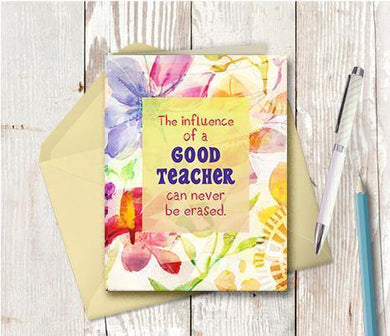 0871 Influence Of Good Teacher Note Card