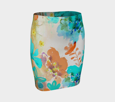 I Am A Queen Teal Fitted Skirt by Deloresart