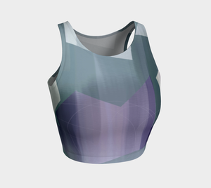 Satin Symmetry Crop Top by Deloresart