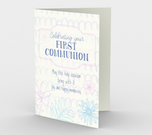 1296. Celebrating Your First Communion  Card by DeloresArt