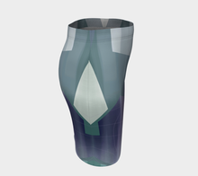 Satin Symmetry Fitted Skirt by Deloresart