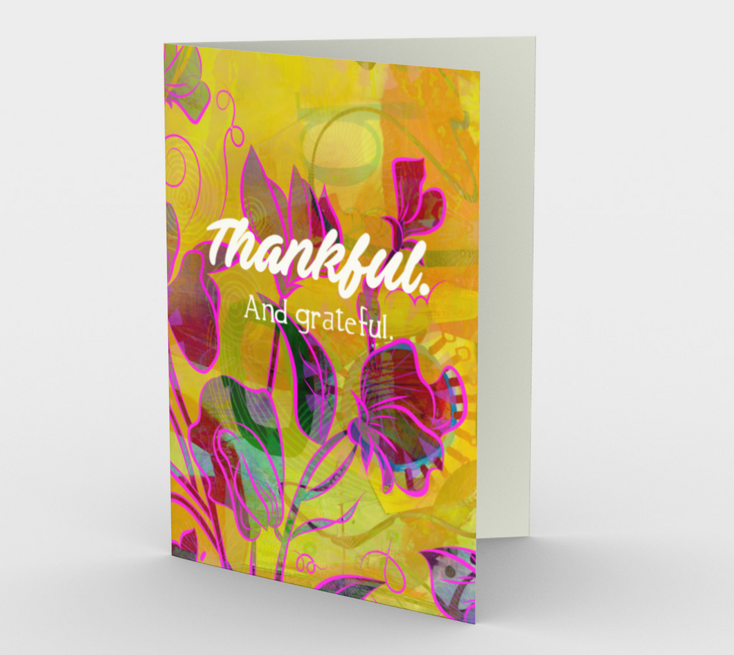 0940.Thankful. And Grateful  Card by DeloresArt